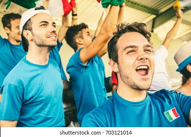 Italian Supporters at the Stadium, Soccer Championship