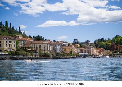 Italian town by Como lake