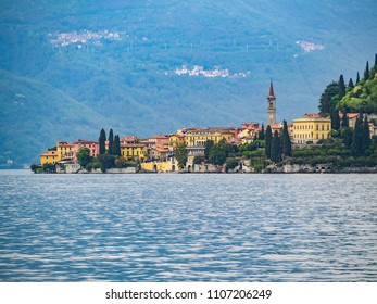 Italian town of Varena by the Como lake