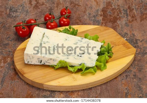 Italian traditional gorgonzola soft cheese with mold