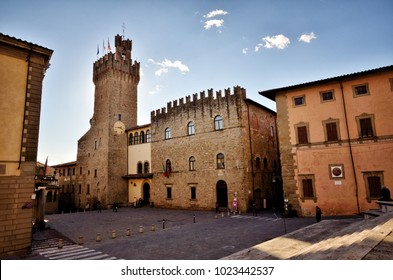 Italian travel destination, the medieval small town of Arezzo, in Tuscany region