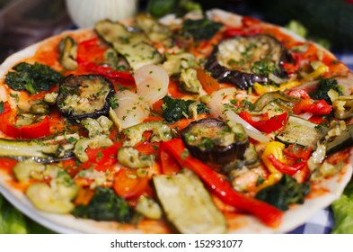 Italian vegetable pizza for vegetarian