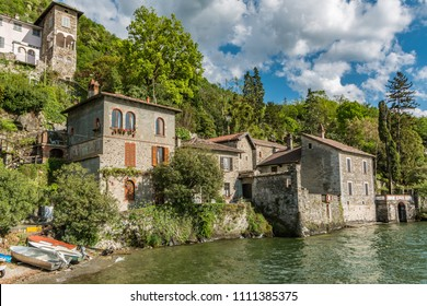 Italian village of Dervio by the Como lake