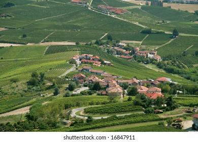 Italian villages among vineyards