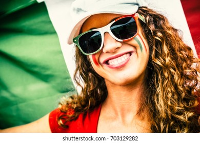 Italian Young Woman Supporter