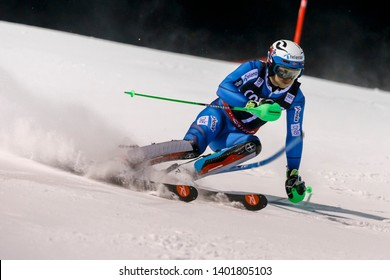 Italy 22 December 2016.  KRISTOFFERSEN Henrik (Nor) competing in the Audi Fis Alpine Skiing World Cup Men's Slalom on the 3Tre Canalone Miramonti Course in the dolomite mountain range.