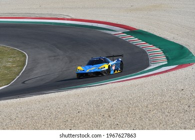 Italy - 25 March, 2021: KTM X-BOW GTX (X26) of Reiter Engineering Team driven by Angermayr-Elghanayan-Felbermayr Jr. in action during 12h Hankook Race at Mugello Circuit in Italy.