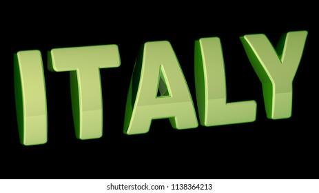 Italy. 3D Illustration.