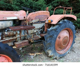 Italy, Abruzzo: Detail of old tractor.