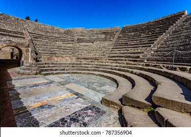 Italy. Ancient Pompeii (UNESCO World Heritage Site). Odeon (small theatre) built around 80 BC