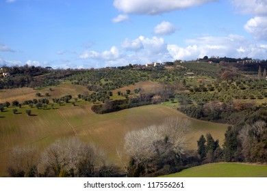 Italy. The Apennines. Spring mountain landscape