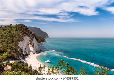 Italy april 2017 - View of Numana beach in Ancona Italy