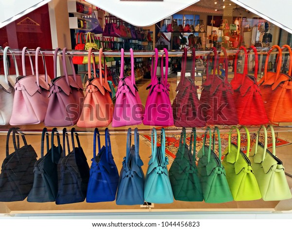 l'ultimo 47bb9 5c92b Italy Arezzo March 2018 Showcase Bags Stock Photo (Edit Now ...