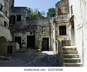 Italy, Basilicata: Characteristic corner of Matera (2019 Culture Capital).