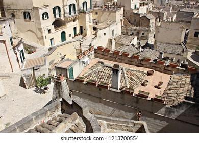 Italy, Basilicata: Particular of Matera (2019 Culture Capital).