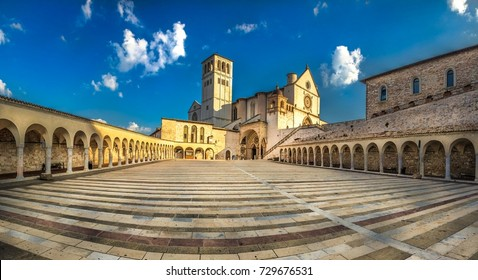 Italy beauty, Basilica of Saint Francis of Assisi, Assisi, Umbria