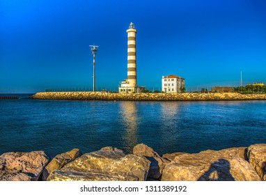Italy beauty, beacon at Lido di Jesolo, near to Venice, Venezia