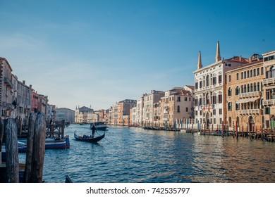 Italy beauty, canal street in Cannaregio, part of Venice , Venezia