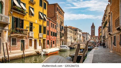 Italy beauty, canal street in Venice, Venezia