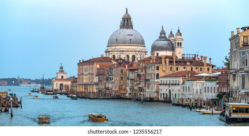 Italy beauty, cathedral Santa Maria della Salute in Venice, Venezia