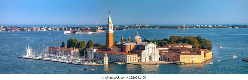 Italy beauty, San Giorgio Maggiore church from San Marco tower, Venezia, Venice