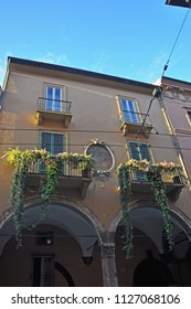 Italy, Bologna old medieval decorated house in Maggiore street.