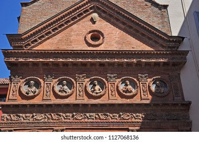 Italy, Bologna, Oratory of the Holy Spirit front details.