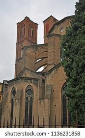 Italy, Bologna Saint Francis Church in Malpighi square side.