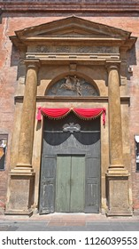 Italy, Bologna, Saint Martino Maggiore basilica side door in Marsala street.