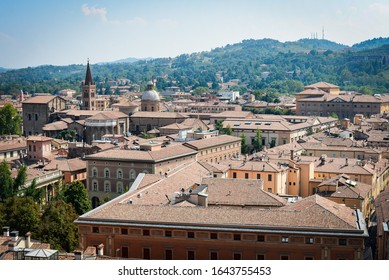 Italy Bologna summer panoramic view