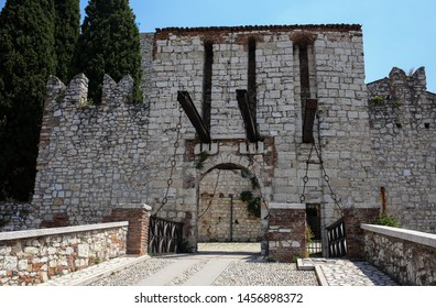 "ITALY, BRESCIA: Castle of Brescia, Via del Castello, the ancient part of Brescia. Called the ""Falcon of Italy"", one of the largest fortified complexes with 75,000 square metres enclosed within walls"