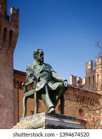 Italy, Busseto. Monument to Giuseppe Verdi.