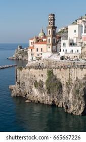 Italy, Campagnia region, Amalfi Coast. The town of Atrani