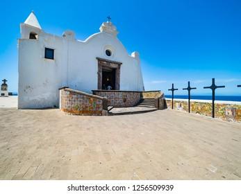 Italy, Campania, Gulf of Naples, Naples, Ischia, Forio, Chiesa del Soccorso church