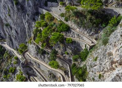 Italy capri island