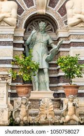 Italy, Central Italy, Lazio, Tivoli. Villa d'Este, UNESCO world heritage site.The Organ Fountain.