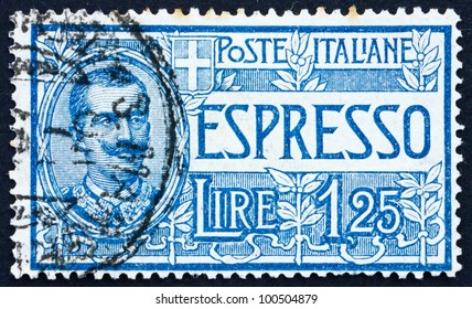 ITALY - CIRCA 1926: a stamp printed in the Italy shows Victor Emmanuel III, King of Italy, 1900-1946, circa 1926