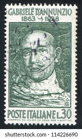 ITALY - CIRCA 1963: stamp printed by Italy, shows Gabriele D Annunzio, circa 1963