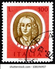 ITALY - CIRCA 1975: a stamp printed in the Italy shows Antonio Vivaldi, Famous Musician, circa 1975