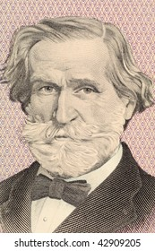 ITALY - CIRCA 1977: Verdi on 1000 Lire 1977 banknote from Italy. Italian romantic composer mainly of opera.
