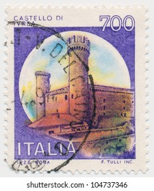 ITALY - CIRCA 1980: A stamp printed in Italy, shows Ivrea, Turin, circa 1980