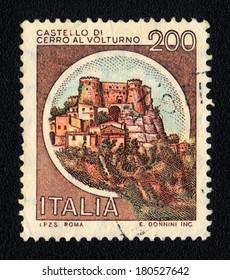 ITALY - CIRCA 1981: A stamp printed in Italy shows  Castle of Cerro al Volturno, circa 1981