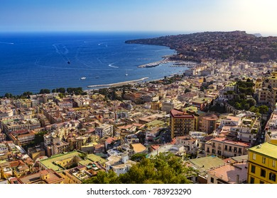 Italy. Cityscape of Naples (Vomero and Mergellina)