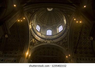 ITALY, COMO - November 3, 2018: Interior of Cathedral in Como (Duomo)