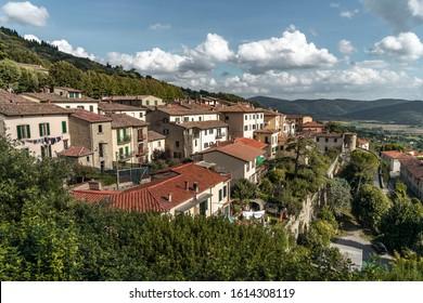 Italy, Cortona, Tuscany- Sept 29, 2019: beautiful town Cortona in Italy