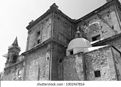 Italy: Detail of Mother Church in Sambuca of Sicily.