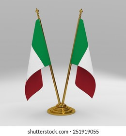 Italy double table flag