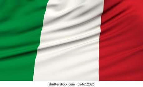 Italy Flag. 3d illustration