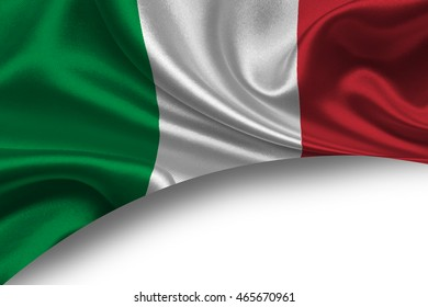 Italy flag abstract background. Copy space.