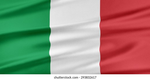 Italy Flag. Flag with a beautiful glossy silk texture.